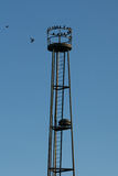 Torre obsoleta velha do relógio Foto de Stock Royalty Free