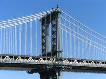 Torre occidental del puente de Manhattan Foto de archivo libre de regalías