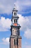 Torre ocidental em Amsterdão, parte da igreja ocidental, Amsterdão, Países Baixos fotografia de stock