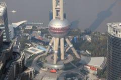 Torre oriental da pérola em Shanghai Imagem de Stock Royalty Free