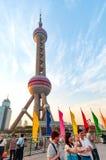 Torre oriental da tevê da pérola de China Shanghai Fotografia de Stock Royalty Free