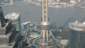 torre oriental de la perla en Shangai almacen de video