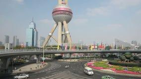 torre oriental de la perla en Shangai metrajes