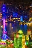Torre orientale della perla alla notte Fotografie Stock Libere da Diritti
