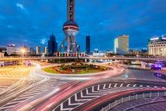 Torre orientale della perla, Shanghai, Cina fotografia stock libera da diritti
