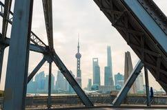 Torre orientale della perla su cielo blu Fotografie Stock