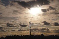 Torre Ostankino della TV a Mosca fotografie stock