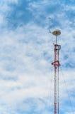 Torre-palo de la comunicación Fotos de archivo