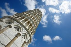 Torre Pendente (Pisa). The famous leaning tower   in the ancient town of Pisa (Tuscany Royalty Free Stock Images