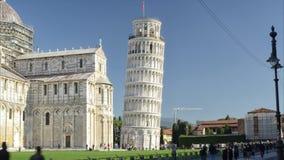 Torre pendente veduta nel timelapse stock footage