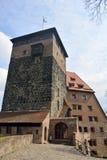Torre pentagonale del castello di Kaiserburg a Norimberga Immagine Stock Libera da Diritti