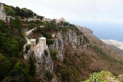Torre Pepoli Erice - Sicília Imagens de Stock