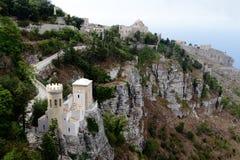 Torre Pepoli Erice - Sicília Fotografia de Stock