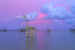 Torre per le viste del tramonto e dell'alba di panorama a Thale Noi in Phatthalung, Tailandia Immagine Stock Libera da Diritti