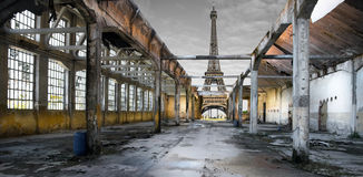 torre Posts-apocalíptica de Effel imagen de archivo libre de regalías