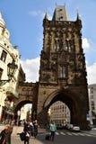 Torre Praga do pó Foto de Stock Royalty Free
