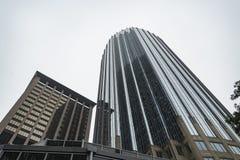 Torre prudencial del ` s de Boston adentro en el centro de la ciudad imagen de archivo