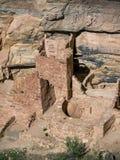 Torre quadrata delle abitazioni di Mesa Verde in Colorado Immagini Stock
