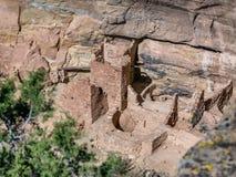 Torre quadrata delle abitazioni di Mesa Verde in Colorado Immagine Stock Libera da Diritti