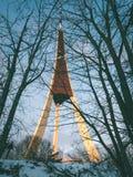 Torre radar ponte - effetto verde d'annata Fotografia Stock
