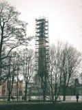 Torre radar ponte - effetto verde d'annata Immagini Stock