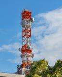 Torre radiofonica mobile fotografia stock libera da diritti