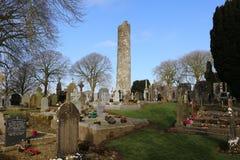 Torre redonda del monasterboice, Irlanda a partir del siglo V Imagen de archivo