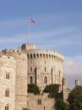 Torre redonda do castelo de Windsor foto de stock royalty free