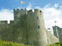 Torre redonda e as bandeiras Foto de Stock