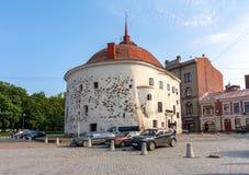Torre redonda en el centro de Vyborg, Rusia imagen de archivo libre de regalías