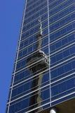 Torre reflejada del NC Imagen de archivo libre de regalías