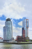 Torre residenziale di Montevideo, Rotterdam, Olanda. Fotografie Stock