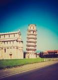 Torre retro de Pisa do olhar em Itália Fotos de Stock Royalty Free