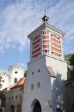 Torre roja Imágenes de archivo libres de regalías