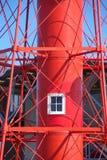 Torre roja del faro Fotos de archivo