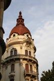 Torre roja del tejado Fotografía de archivo