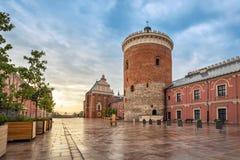 Torre romanica del castello a Lublino, Polonia Fotografia Stock