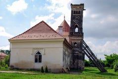Torre romantica del castello di Bontida Fotografia Stock Libera da Diritti