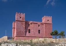 Torre rossa, Malta Immagine Stock