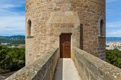 Torre rotonda del castello di Bellver Immagini Stock Libere da Diritti