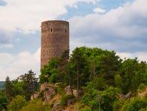Torre rotonda del castello di Zebrak Fotografie Stock