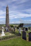 Torre rotonda della cattedrale di Ardmore - contea Waterford - Irlanda fotografie stock libere da diritti