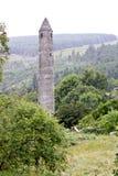 Torre rotonda di Glendalough, Irlanda Fotografia Stock Libera da Diritti