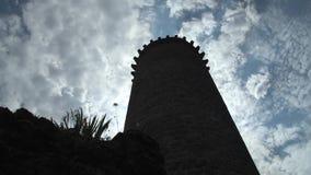 Torre rovinata - Piegut stock footage