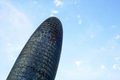 Torre-Ruhme alias Torre Agbar in Barcelona, Spanien Stockbilder