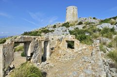 Torre sa Talaia & Ancient Ruin Stock Photography