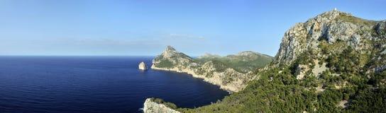 Torre sa Talaia y costa costa de Formentor Imagenes de archivo