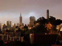 Torre San Francisco, CA los E.E.U.U. de Coit Imagenes de archivo
