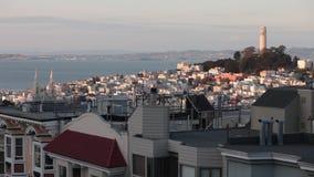 Torre San Francisco Timelapse de Coit Imágenes de archivo libres de regalías