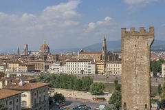 Torre San Niccolo and Florence cityscape, Italy Stock Photo